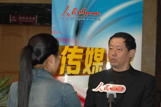 中国人民大学新闻学院常务副院长高纲接受人民网传媒频道记者采访
