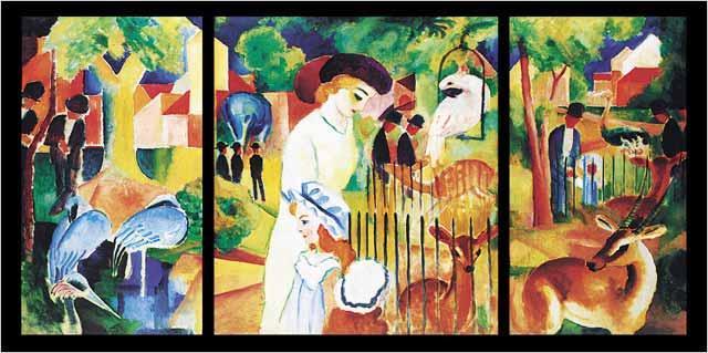 在麦克绘画的《动物园》(如图2所示)中