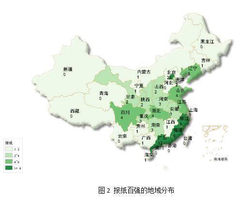 2016年中国报纸融合传播百强榜发布